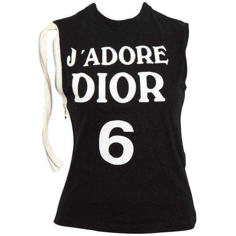 "John Galliano for Christian Dior ""J'ADORE DIOR"" Tank Top T-Shirt"