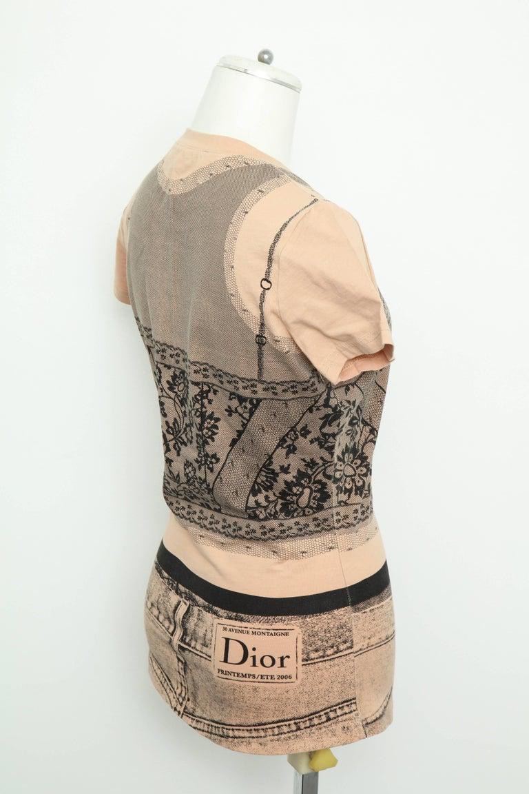 Christian Dior by John Galliano Trompe L'oeil T-shirt For Sale 1