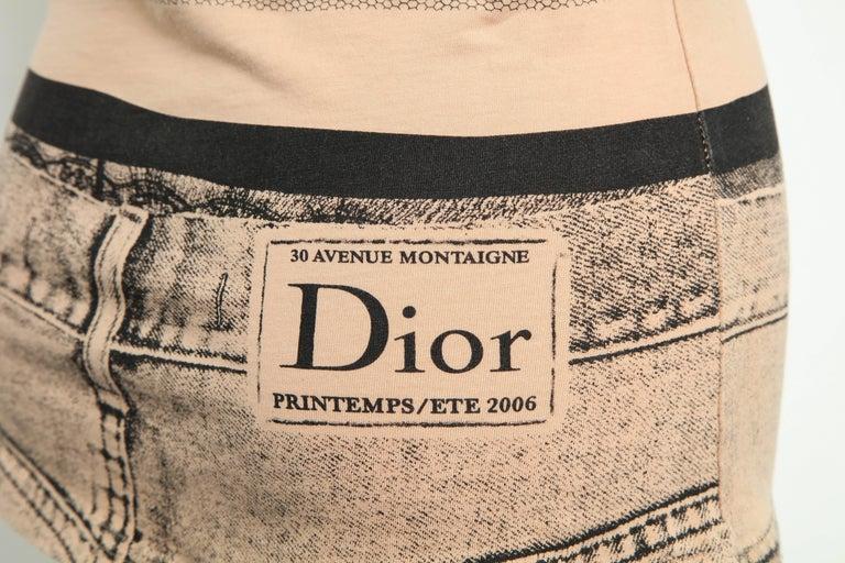 Christian Dior by John Galliano Trompe L'oeil T-shirt For Sale 2