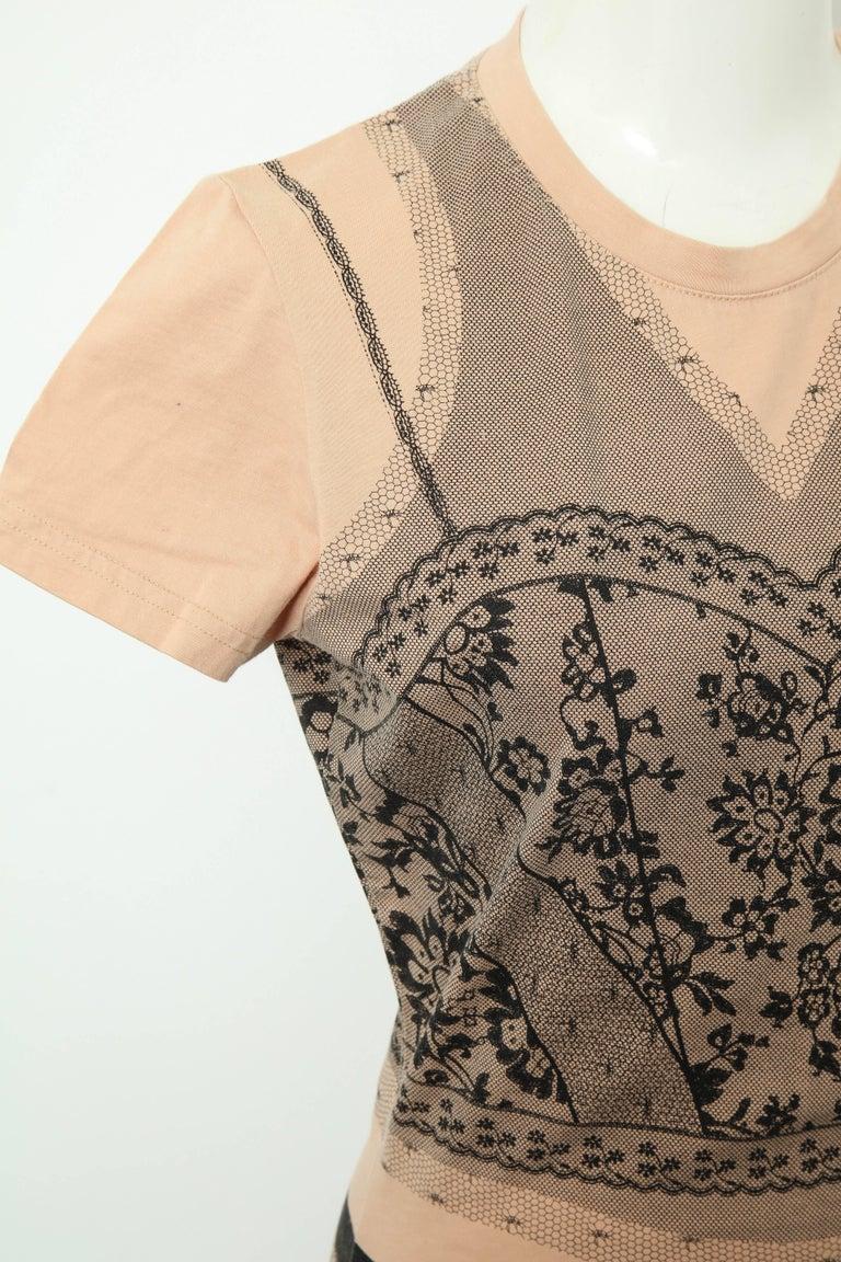 Christian Dior by John Galliano Trompe L'oeil T-shirt For Sale 3
