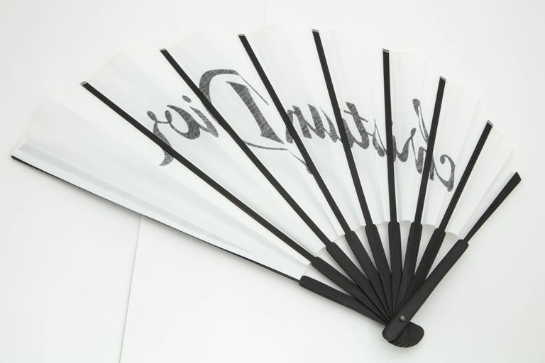 Christian Dior by John Galliano Logo Fan  In New Condition For Sale In New York, NY