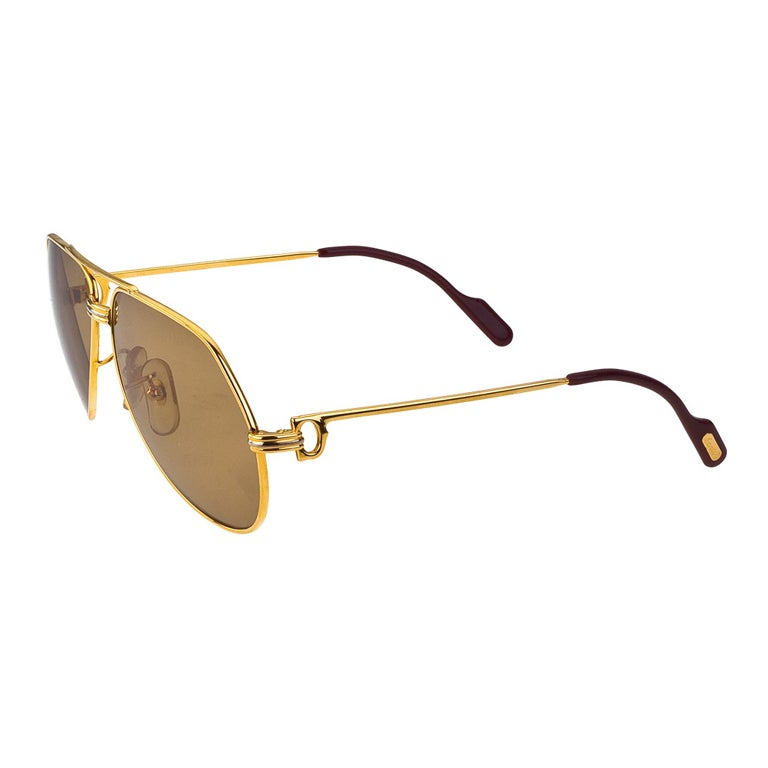 8c82497be0d Cartier Vintage Large Vendome Sunglasses For Sale at 1stdibs
