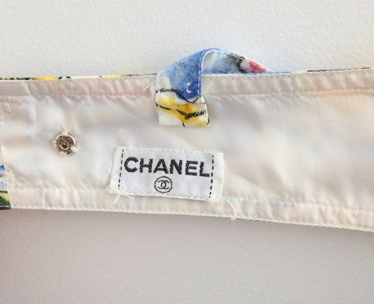 Chanel Blue Print Bra Top For Sale 2