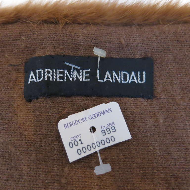 1980s Deadstock Adrienne Landau Mink & Cashmere Mini Stole 4