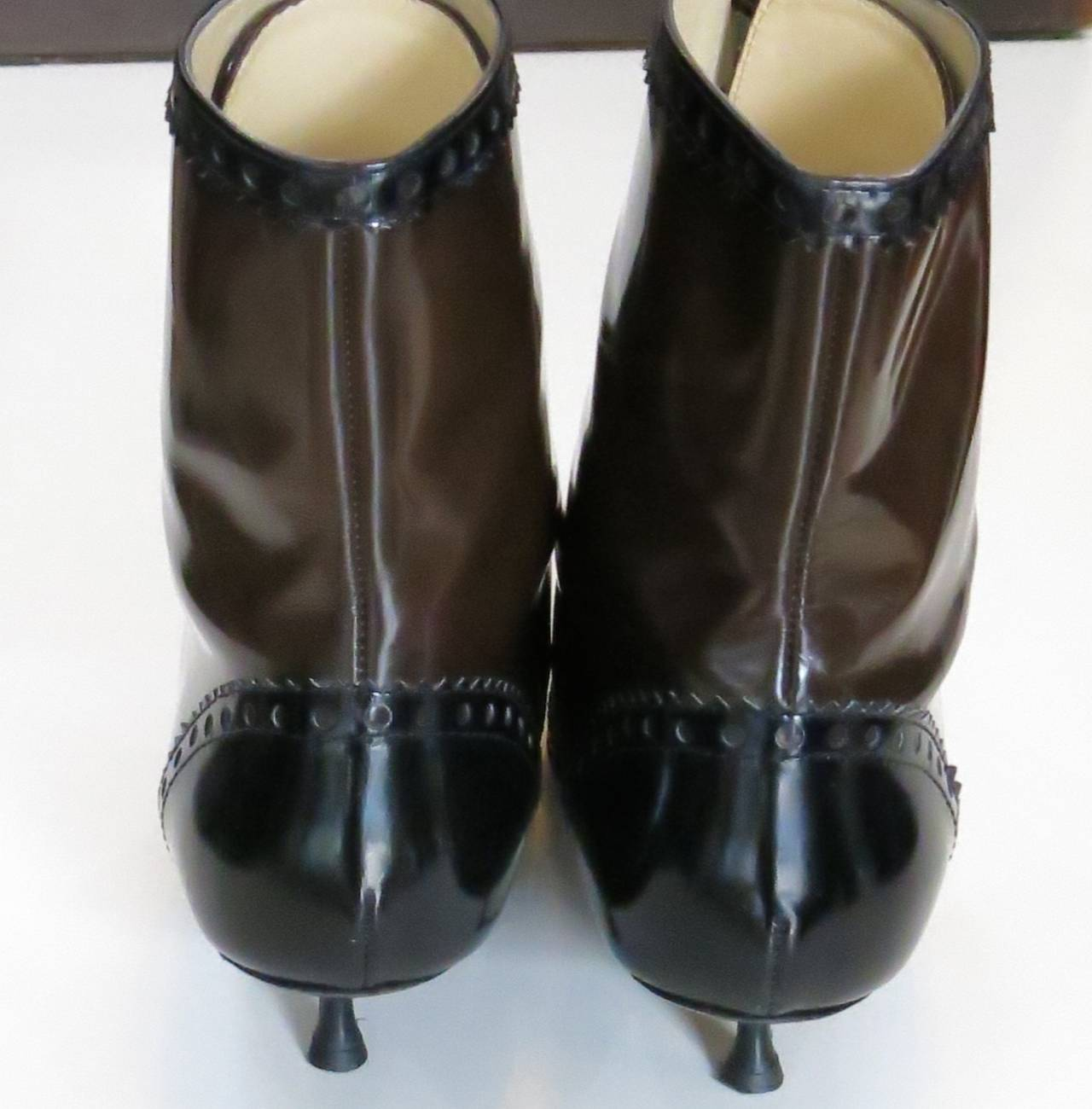 "Moschino ""Cheap and Chic"" Edwardian-Style Boots 3"