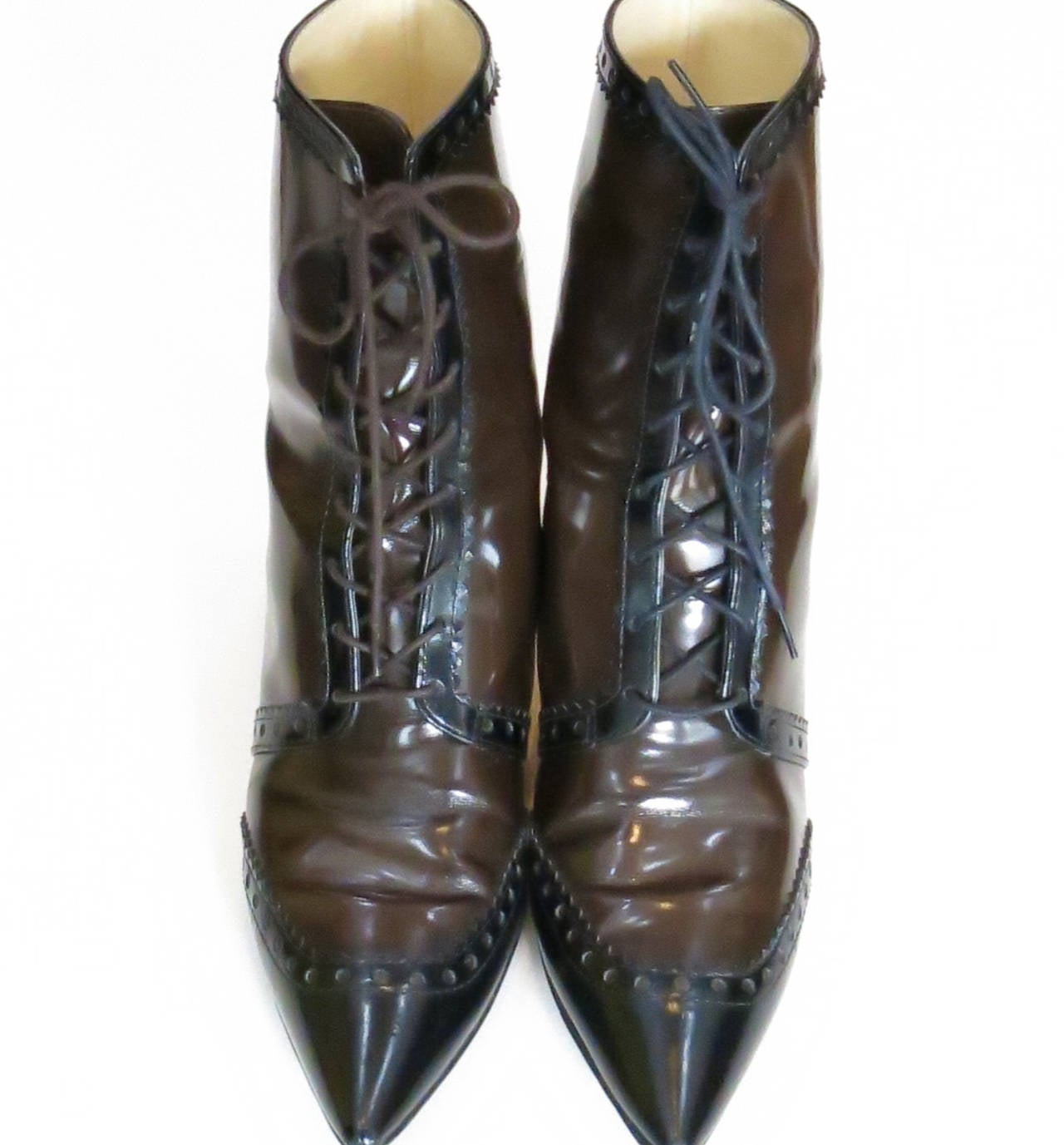 "Moschino ""Cheap and Chic"" Edwardian-Style Boots 2"