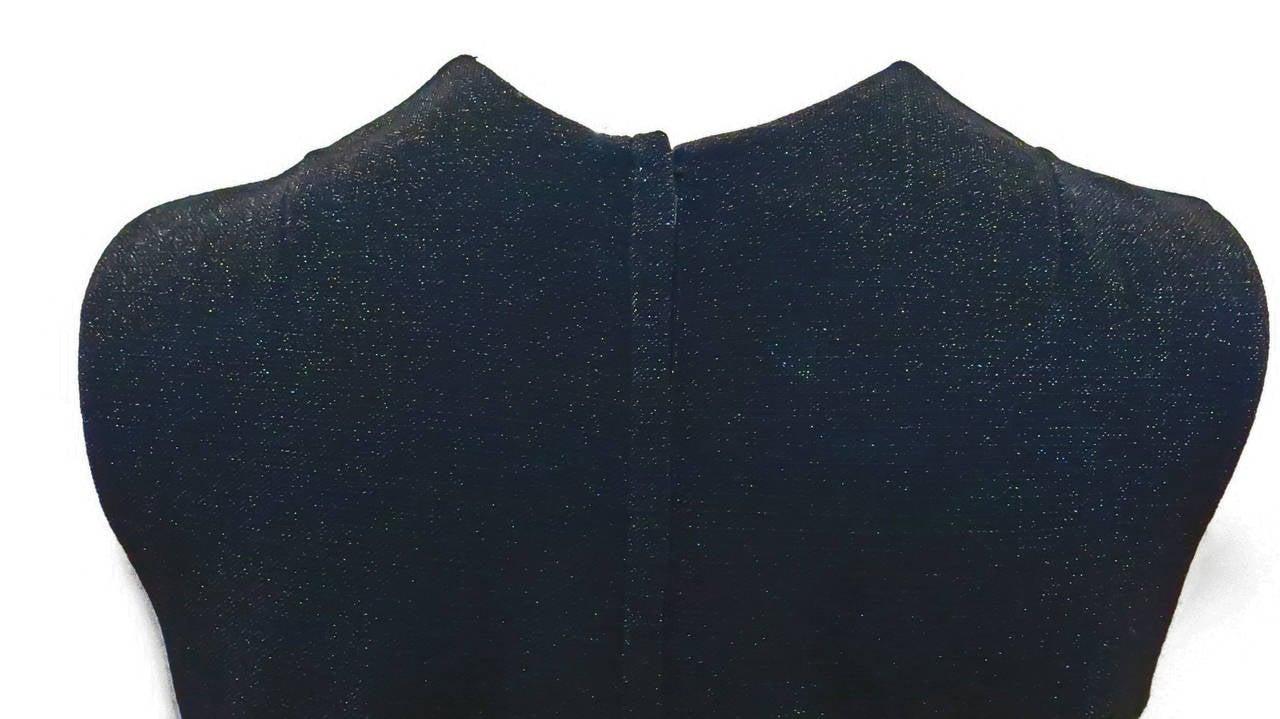 1970s Rudi Gernreich Shimmering Black Knit Dress 5