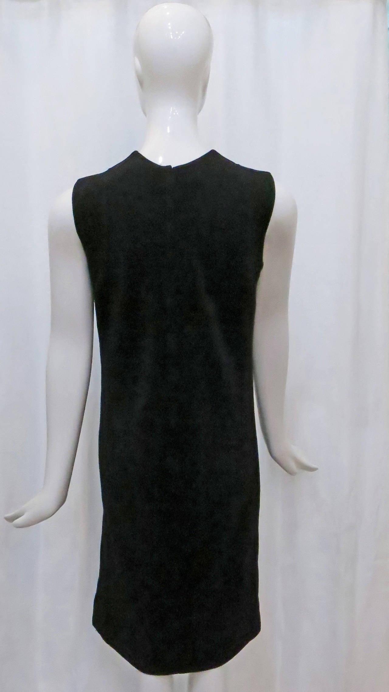1970s Rudi Gernreich Shimmering Black Knit Dress 4