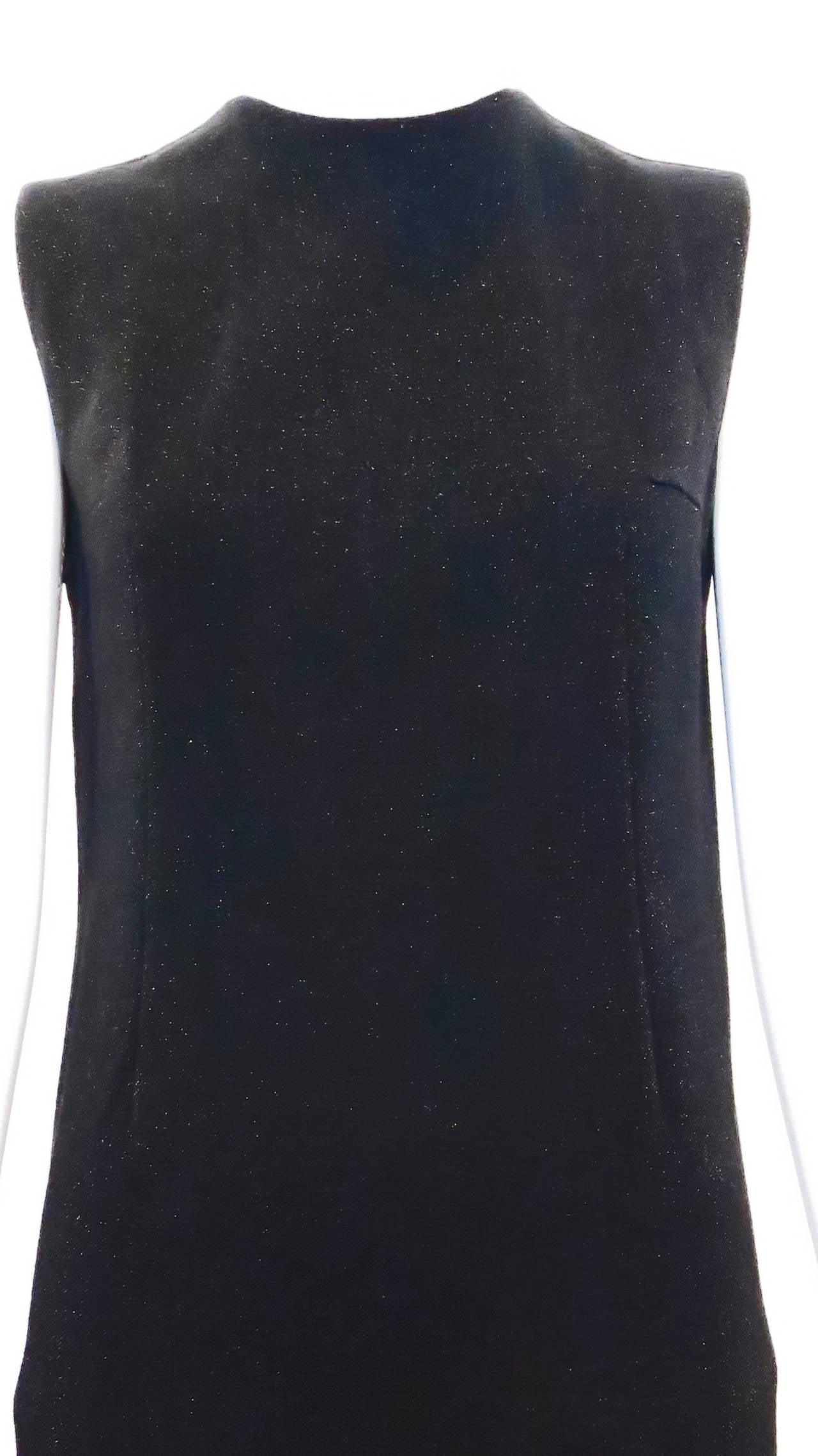 1970s Rudi Gernreich Shimmering Black Knit Dress 2