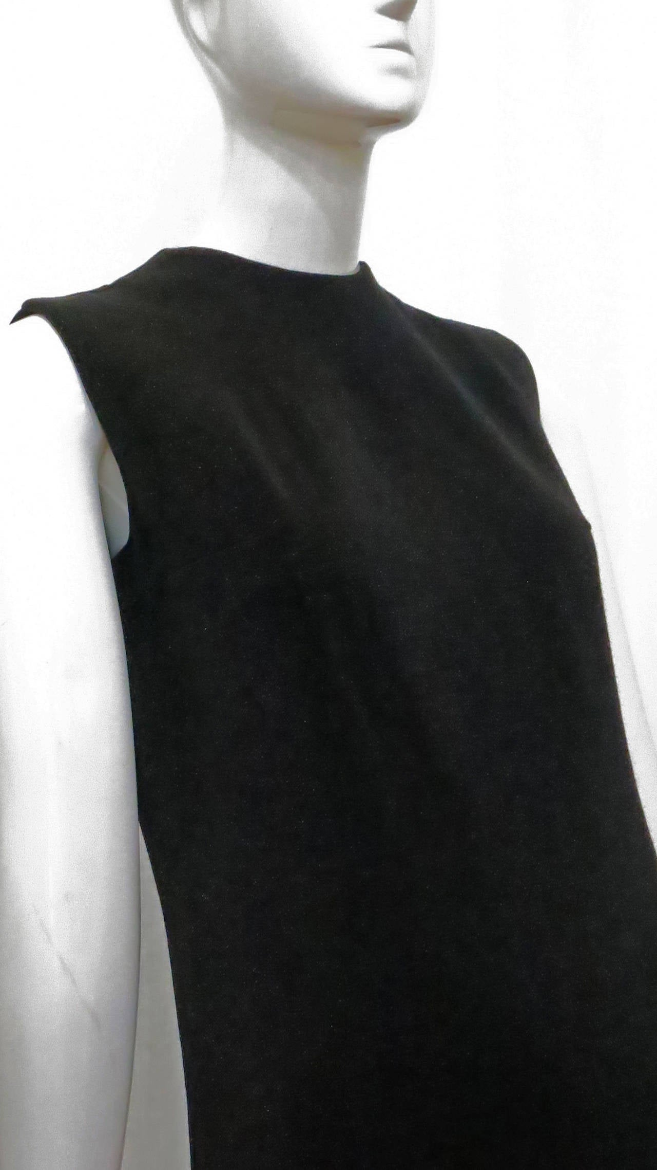 1970s Rudi Gernreich Shimmering Black Knit Dress 3