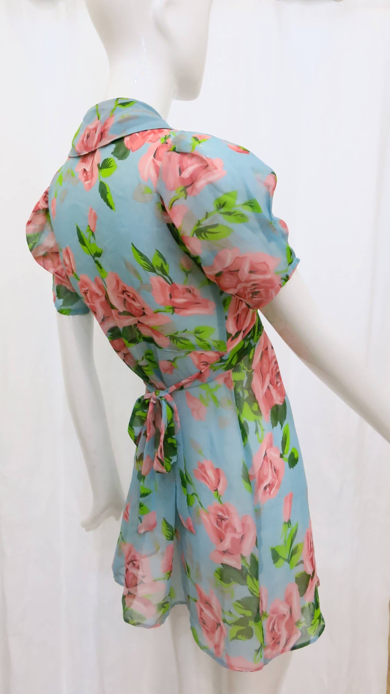 1990s Betsey Johnson Floral Baby Doll Dress 2