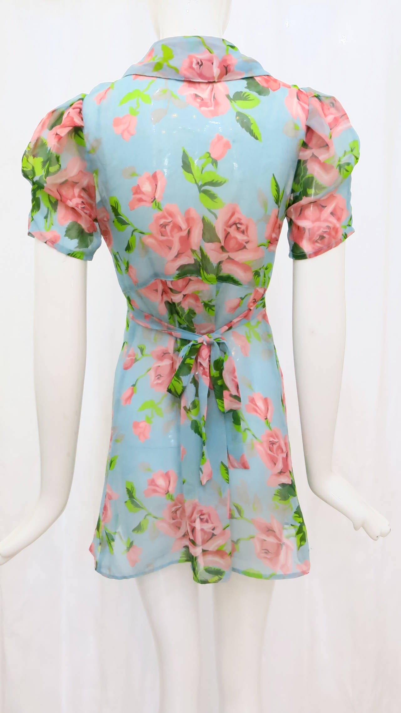 1990s Betsey Johnson Floral Baby Doll Dress 3
