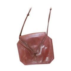 Bottega Veneta Burgundy Leather Crossbody Purse