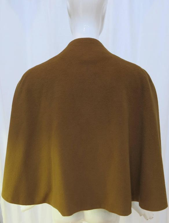 1960's Brown Vicuna Short Cape 3