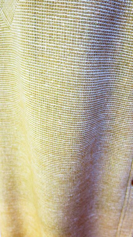 1960s Courreges Paris Beige Button Down Skirt 5