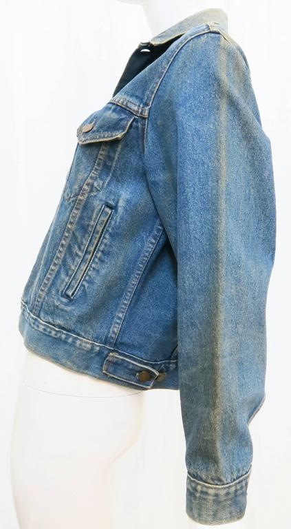 Women's or Men's 1970s Sears Roebuck and Co. Led Zeppelin Denim Jacket For Sale