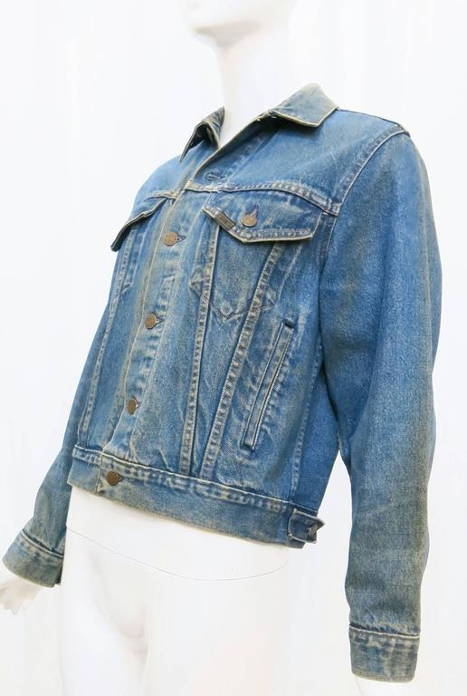 1970s Sears Roebuck and Co. Led Zeppelin Denim Jacket In Good Condition For Sale In Brooklyn, NY