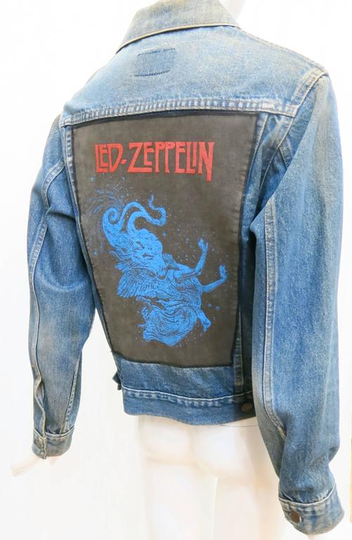 1970s Sears Roebuck and Co. Led Zeppelin Denim Jacket For Sale 3