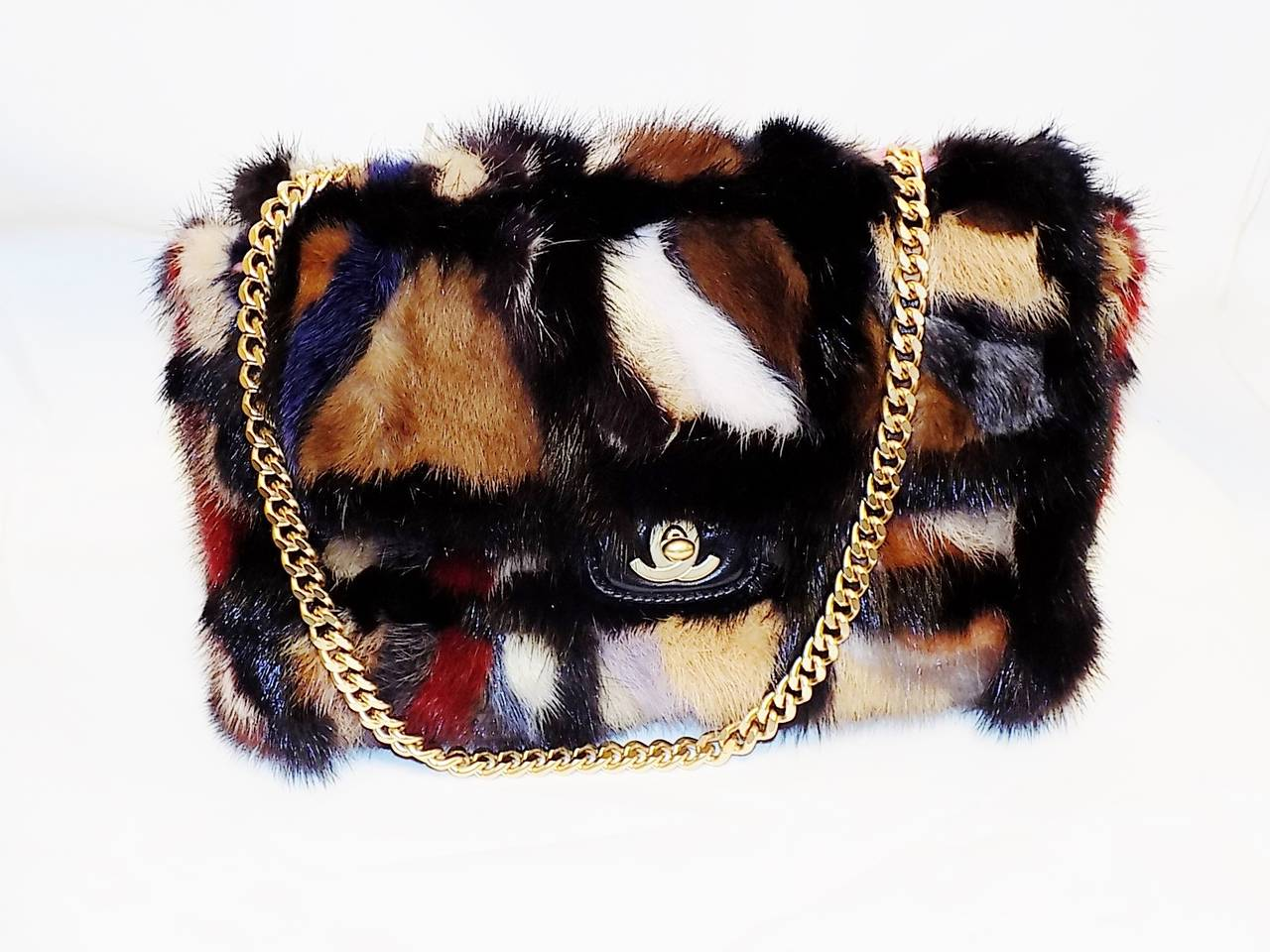 Chanel Arm Candy! Multi color Mink Fur  bag New in Box Coll 2001 4