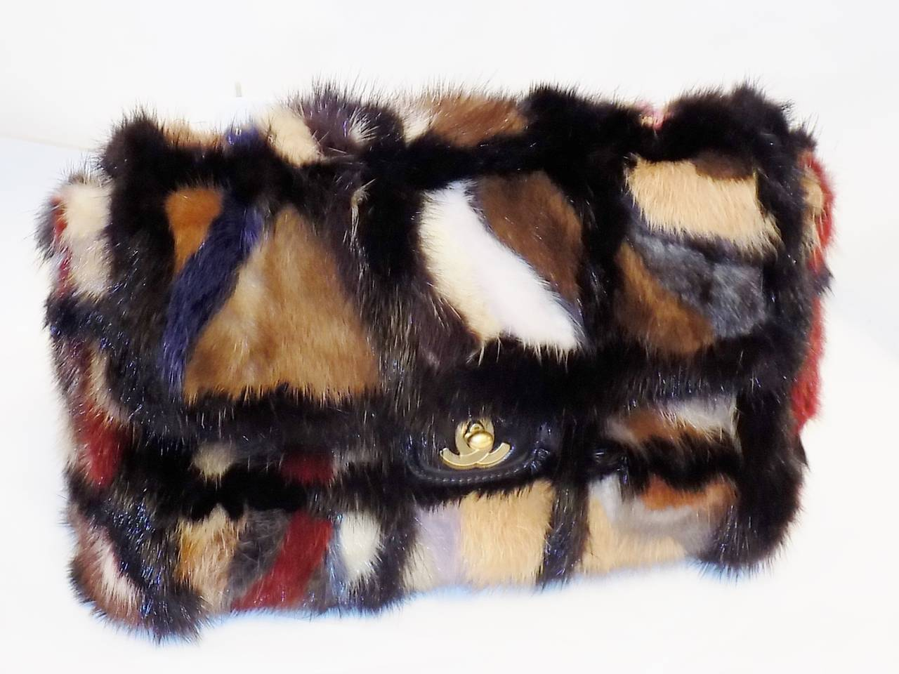 Chanel Arm Candy! Multi color Mink Fur  bag New in Box Coll 2001 2