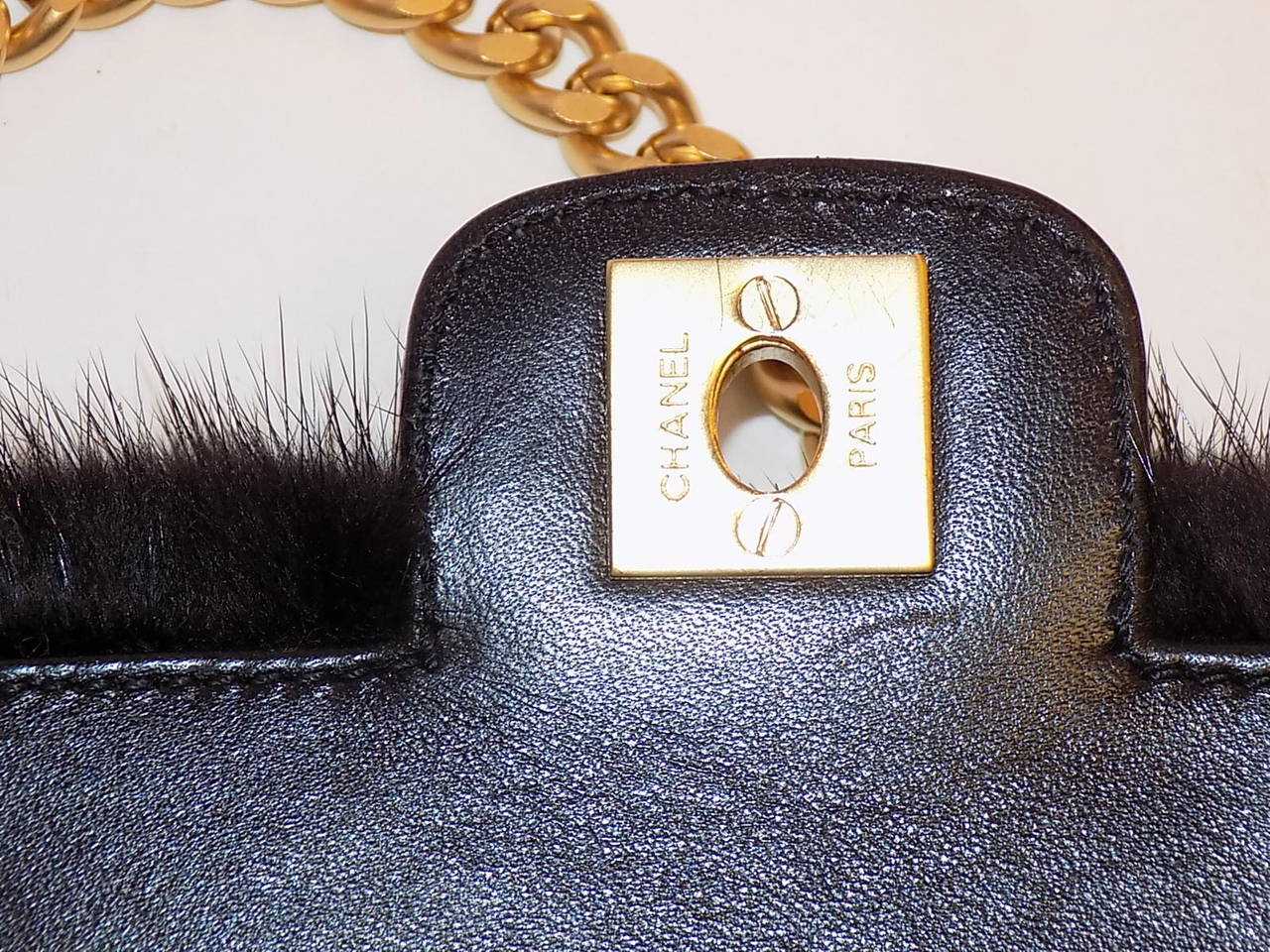 Chanel Arm Candy! Multi color Mink Fur  bag New in Box Coll 2001 7