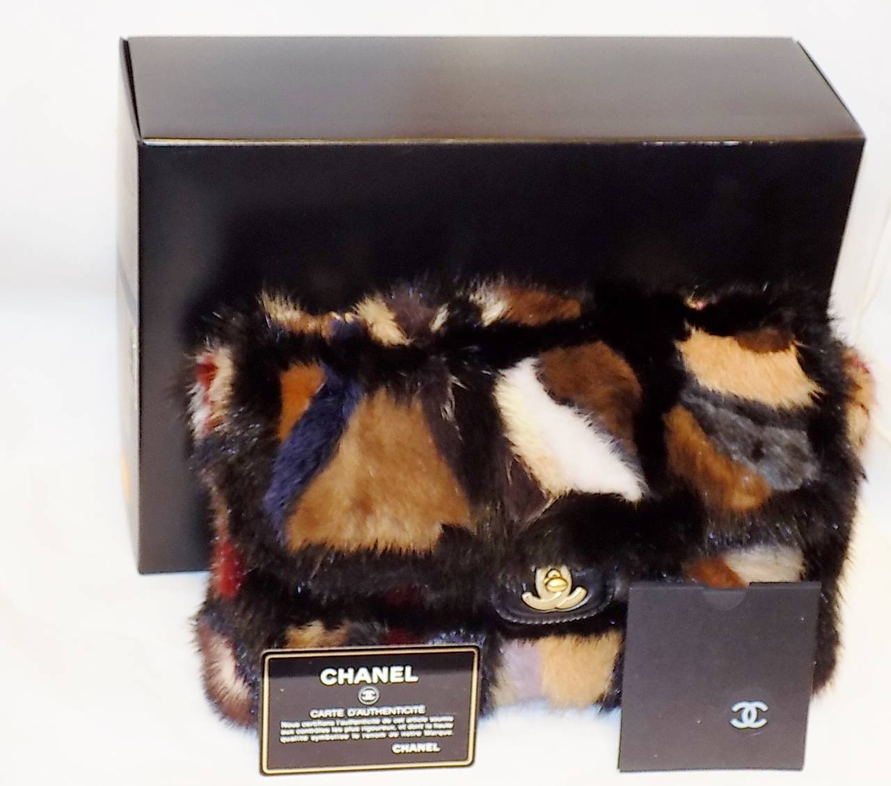 Chanel Arm Candy Multi Color Mink Fur Bag New In Box Coll