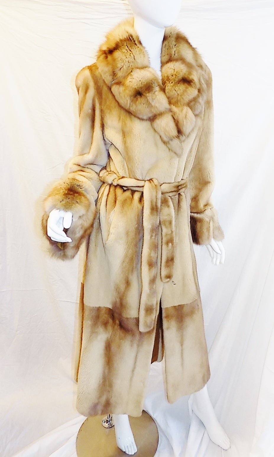 Women's Golden Russian  Sable  Spectacular Saga Furs Royal duster coat For Sale