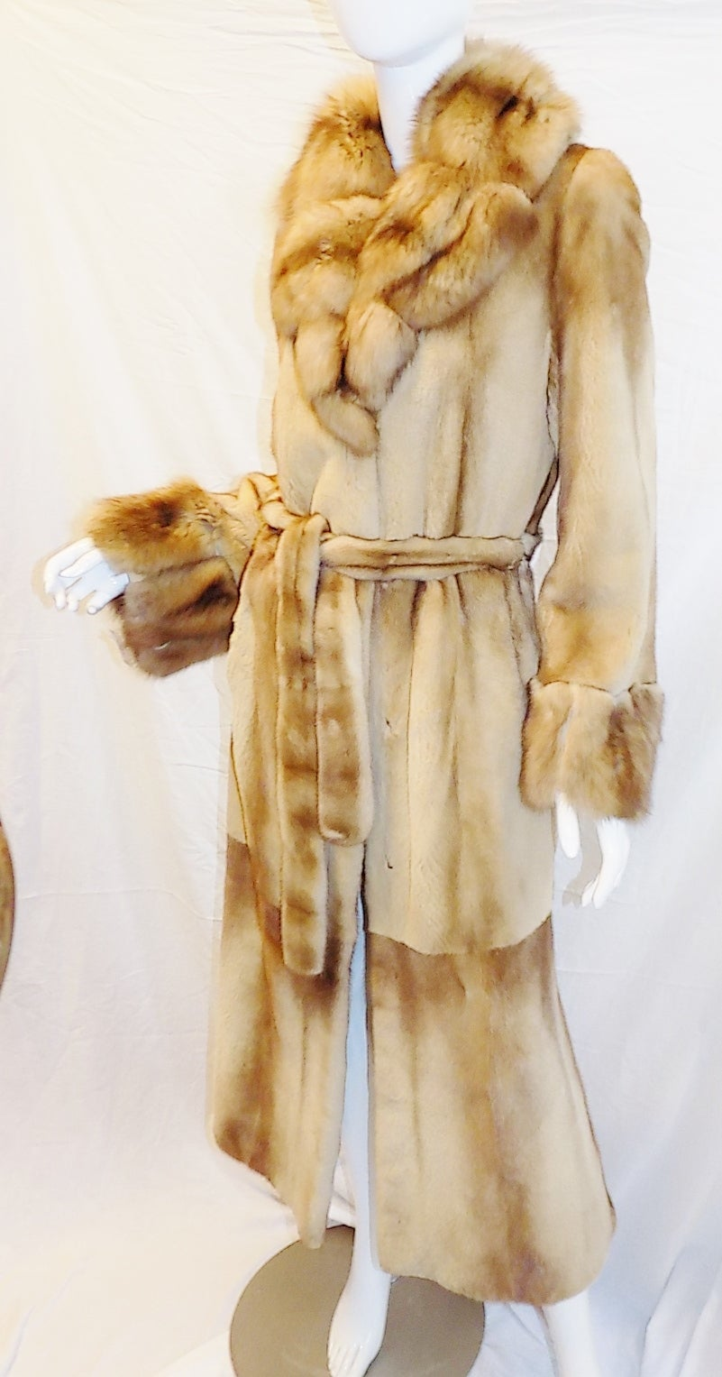 Golden Russian  Sable  Spectacular Saga Furs Royal duster coat For Sale 3