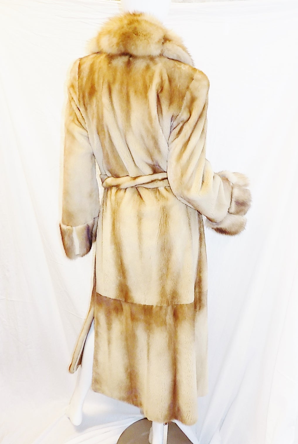 Golden Russian  Sable  Spectacular Saga Furs Royal duster coat For Sale 5