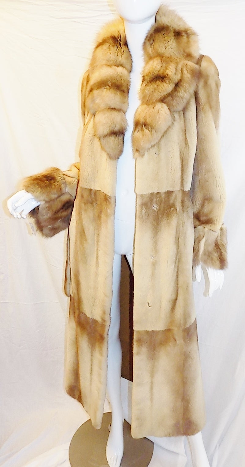 Golden Russian  Sable  Spectacular Saga Furs Royal duster coat For Sale 1