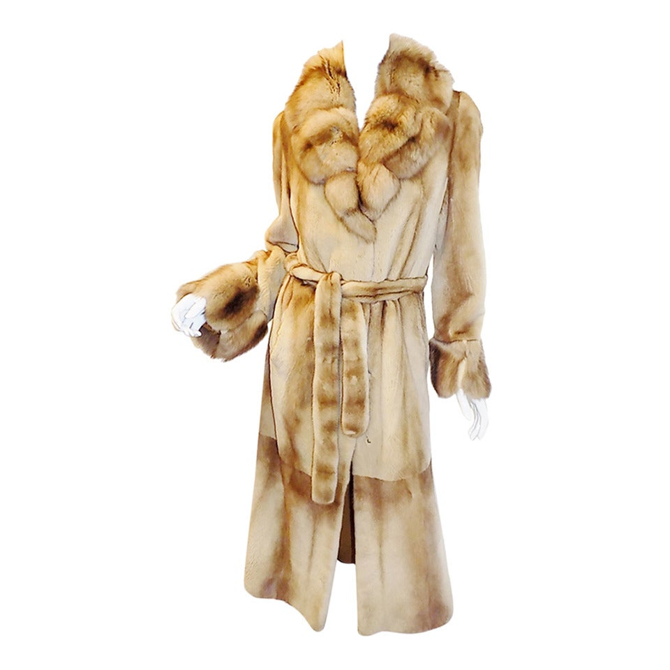 Golden Russian  Sable  Spectacular Saga Furs Royal duster coat For Sale