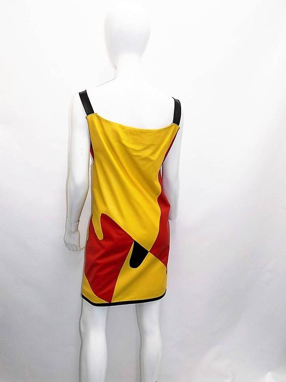 "Bottega veneta pop art "" KINKY BOOTS"" mini  leather dress  2"