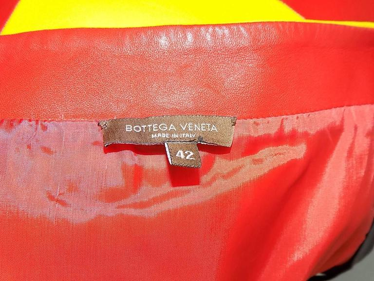 "Bottega veneta pop art "" KINKY BOOTS"" mini  leather dress  6"