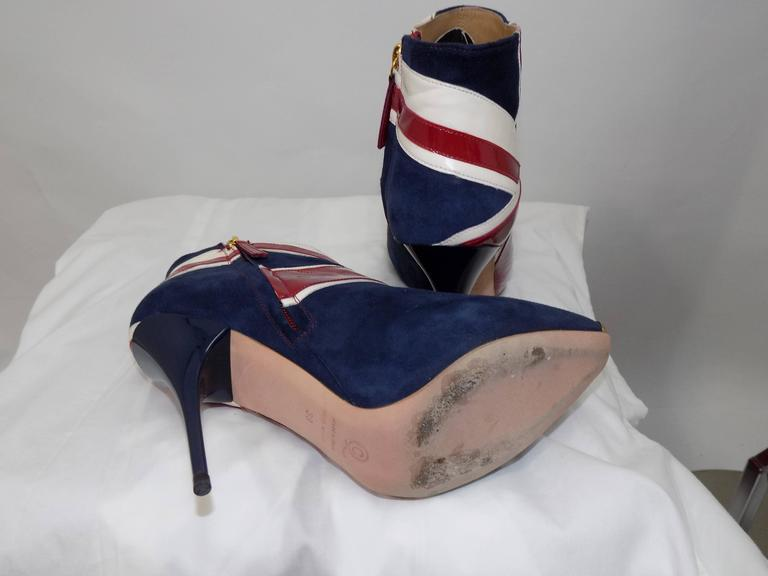 Brown ALEXANDER MCQUEEN Union Jack ankle boots For Sale