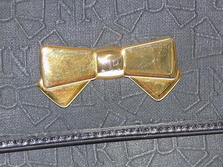 Nina Ricci black coated canvaswith gold chain bag / clutch 5