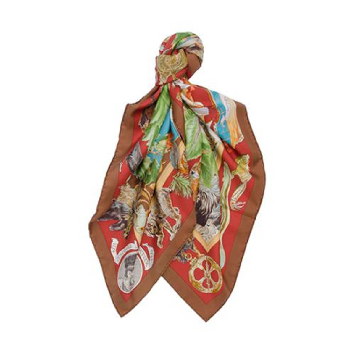 hermes kermit oliver quot le canada quot scarf 100 silk samuel de