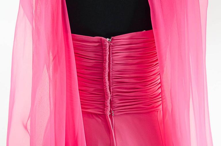 Victor Costa Beautiful Hollywood  glamor strapless pink gown with long shawl 7