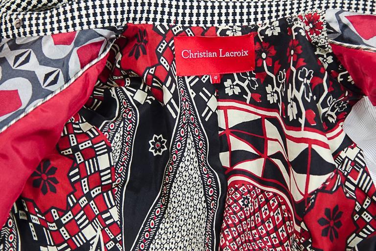 Christian Lacroix  short jacket and Dress ensemble sz 42 For Sale 2