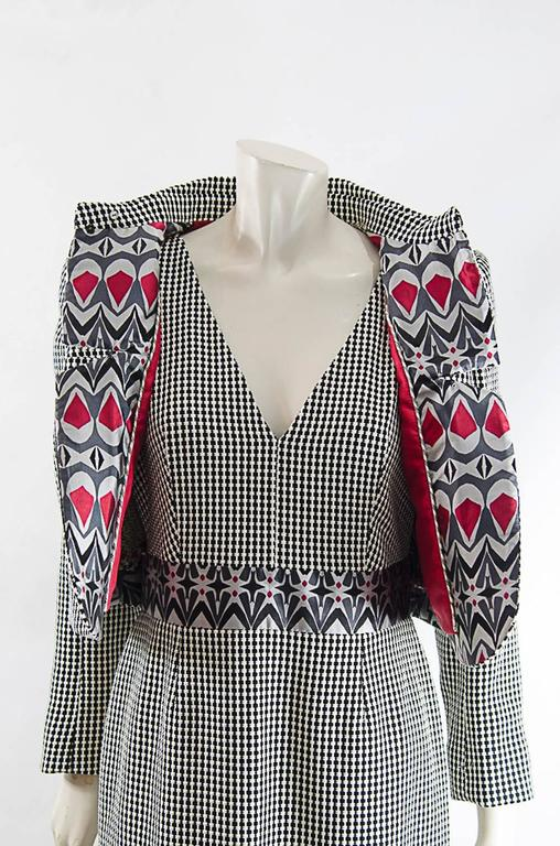 Christian Lacroix  short jacket and Dress ensemble sz 42 In New Never_worn Condition For Sale In New York, NY