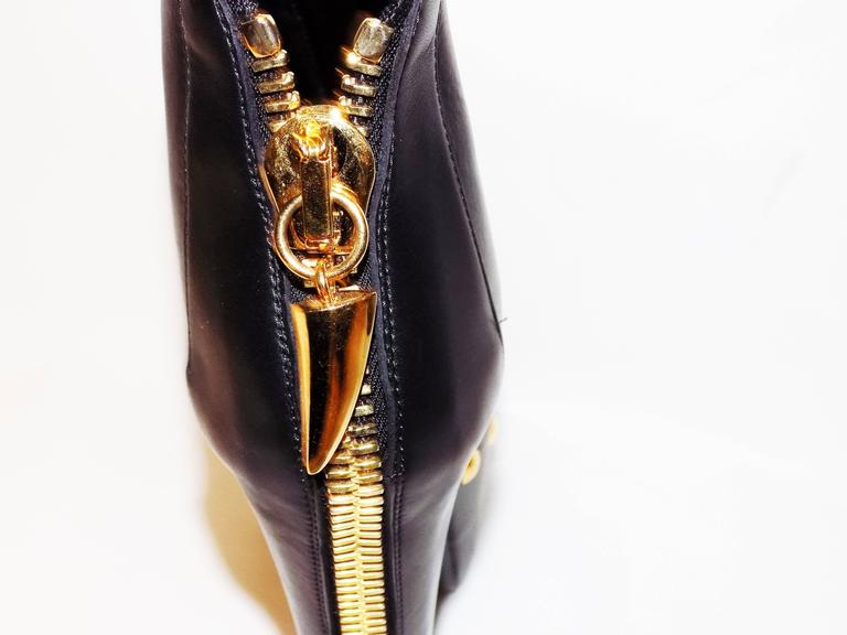 Giuseppe Zanotti platform ankle bootiess with back zipper 5