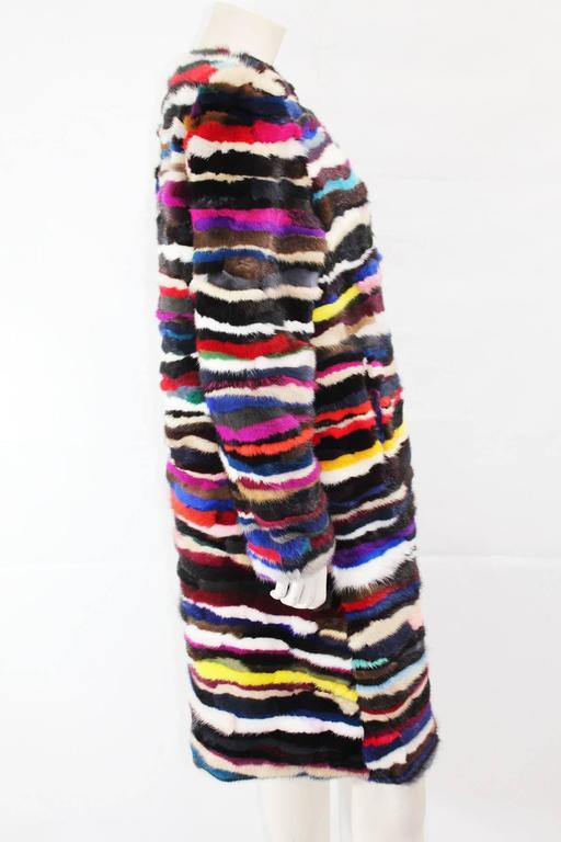 Richard Meyerson Multi color pieced mink fur coat. Hot for the season!! 2