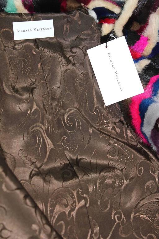 Richard Meyerson Multi color pieced mink fur coat. Hot for the season!! 6