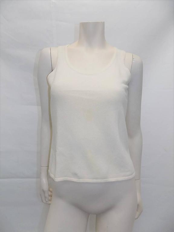 Chanel  Cashmere Ivory - black sweater set cardigan and top  In Excellent Condition For Sale In New York, NY
