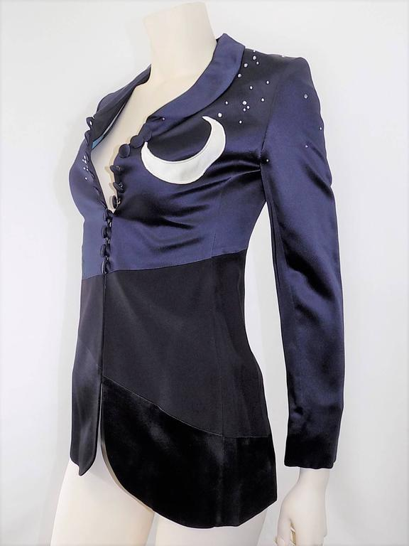 Black Moschino Cheap and Chic Midnight Moon Vintage Jacket For Sale