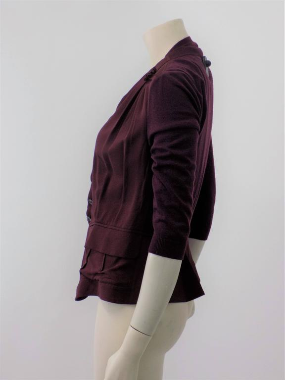 Nina Ricci silk and cashmere sweater set jaket/ top                            2
