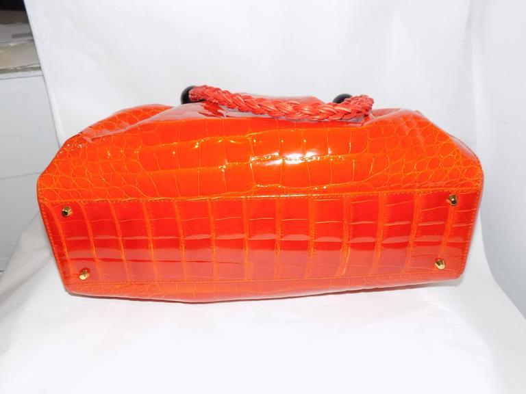 Luxury Suarez Alligator  bag with ebony frame . New! 4