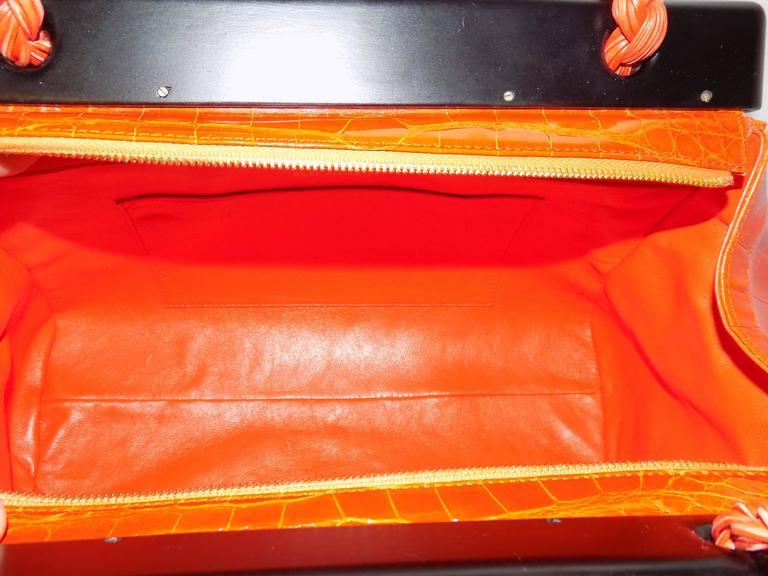 Luxury Suarez Alligator  bag with ebony frame . New! 7