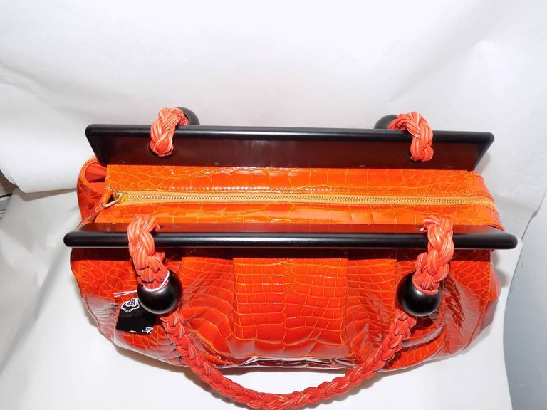 Luxury Suarez Alligator  bag with ebony frame . New! 10