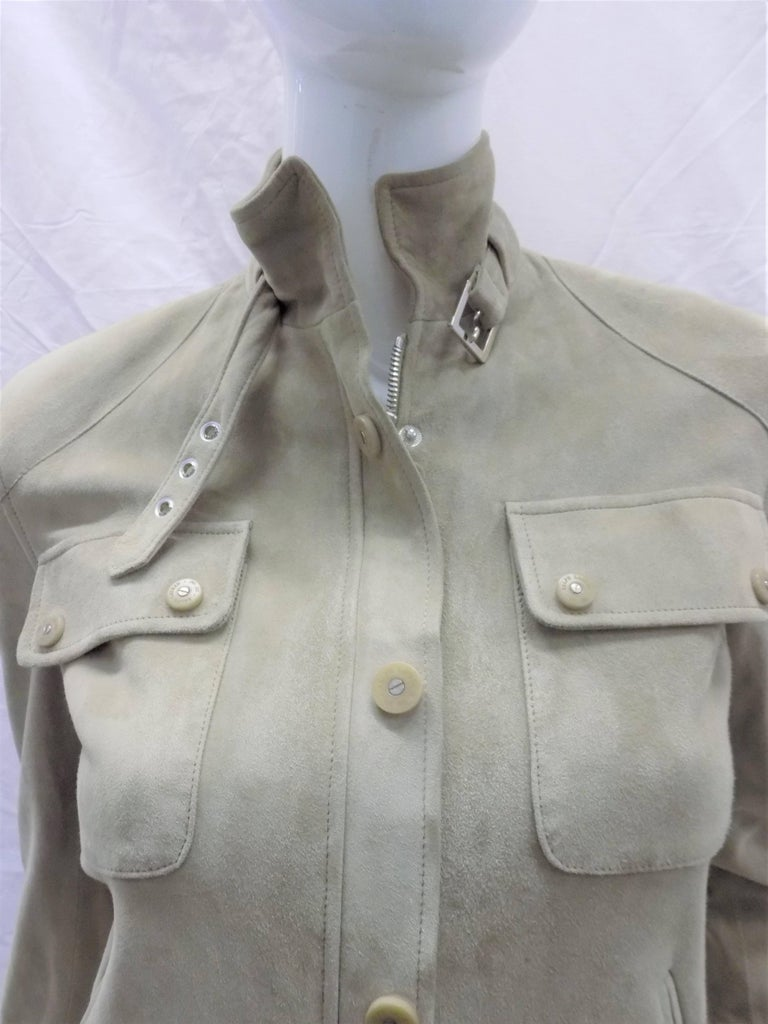 Women's Ralph Lauren Black Label womans  Suede Leather Biker Jacket Coat  sz 2 For Sale