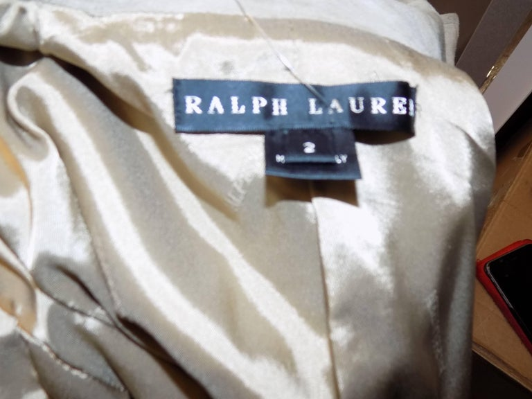 Ralph Lauren Black Label womans  Suede Leather Biker Jacket Coat  sz 2 For Sale 5